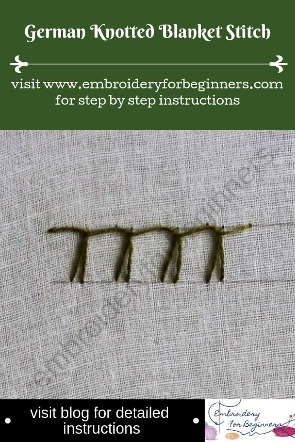 visit blog for detailed instructions german knotted blanket stitch