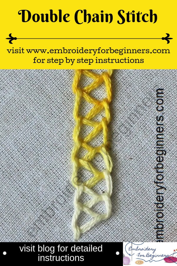 visit blog for detailed instructions on working the double chain stitch