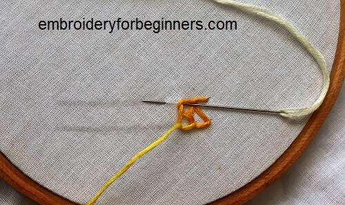 working on the chain stitch