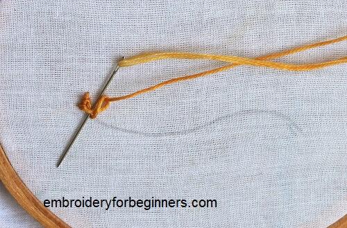 making the rosette stitch