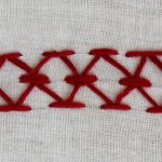 mirrored chevron stitch