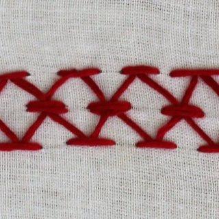 mirrored chevron stitch