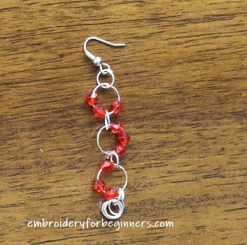 red ear ring