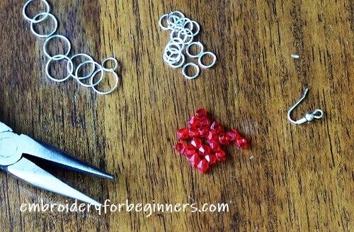 red earrings required earrings