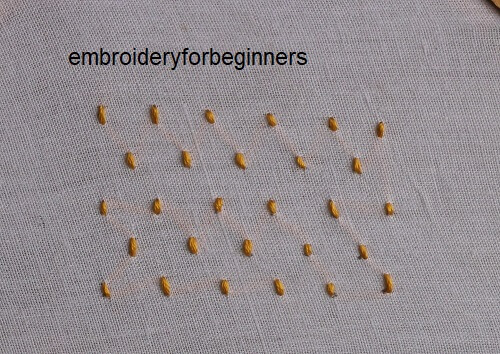2. completing the small stitches