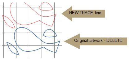 trace area on grid