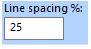 FTCU line spacing box