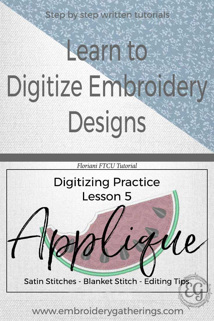 Practice your embroidery digitizing and editing skills with this lesson about Appliques. Step by step written tutorial and free PDF download.