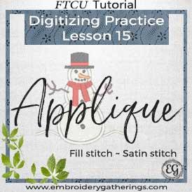 FTCU Practice Lesson 15 – Snowman Applique