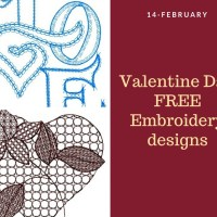 Valentine day embroidery designs