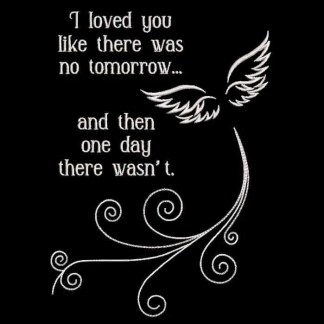 In memory embroidery design