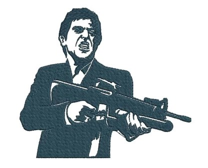 Scarface embroidery design