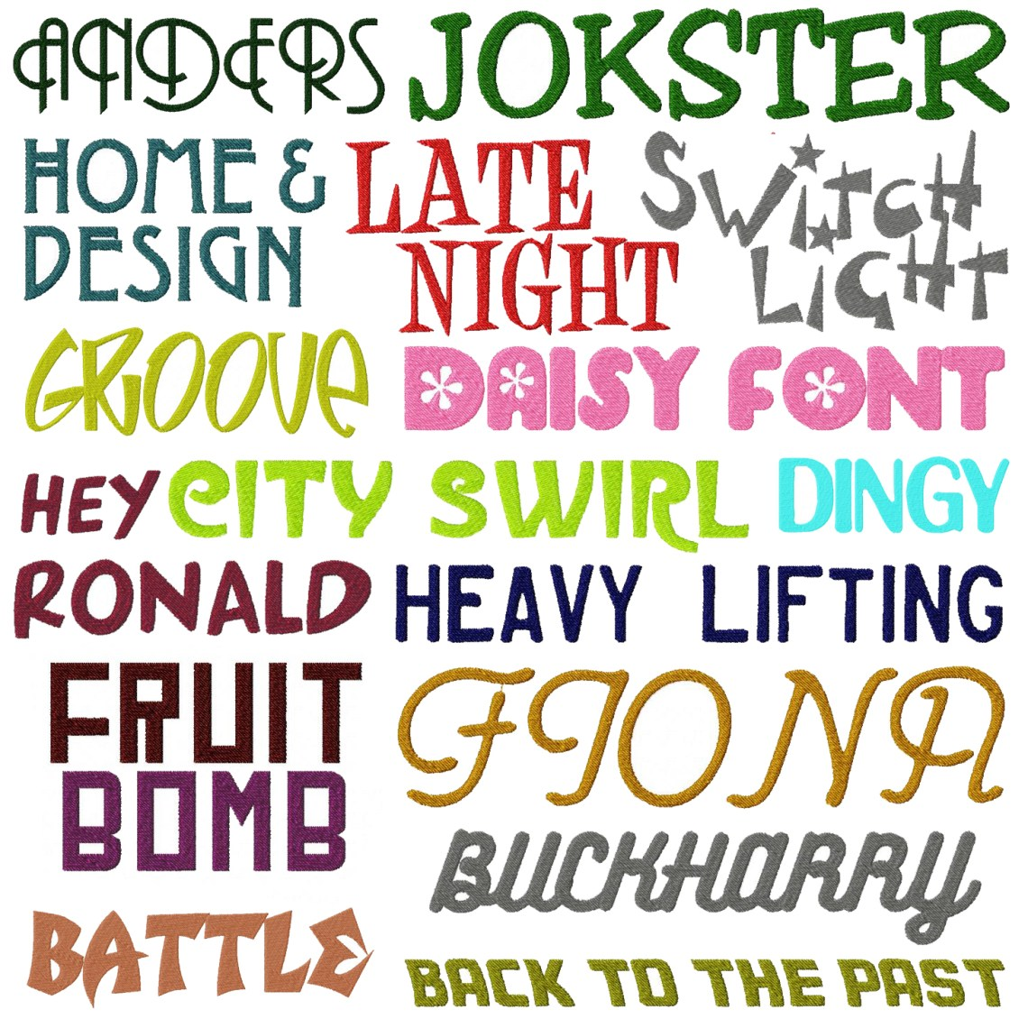 Download Embroidery Font Deal Part IV 50 All New Machine Embroidery ...