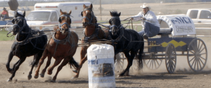 Dave Dubic at the Bruderheim Rodeo