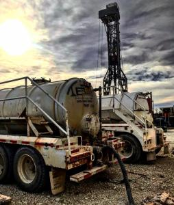 Featuring two EMCO vacuum trucks for the texas oilfield