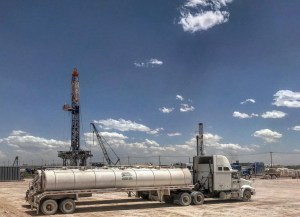vacuum truck in the permian
