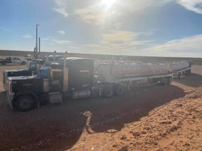 Emco Oilfield Services vac truks