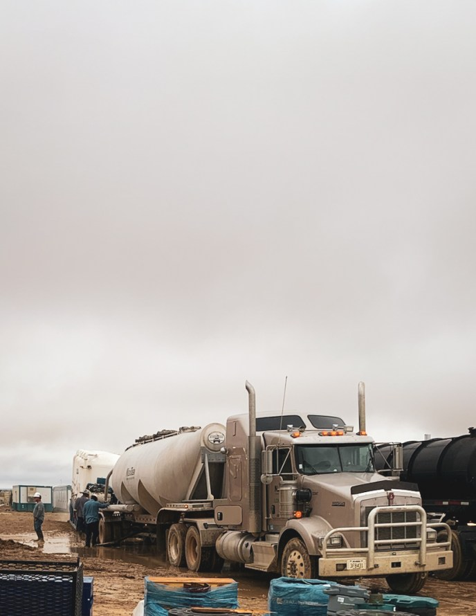 vac truck in the permian basin
