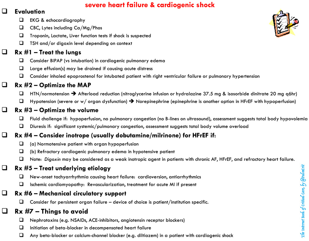 Cardiogenic shock & severe CHF - EMCrit Project