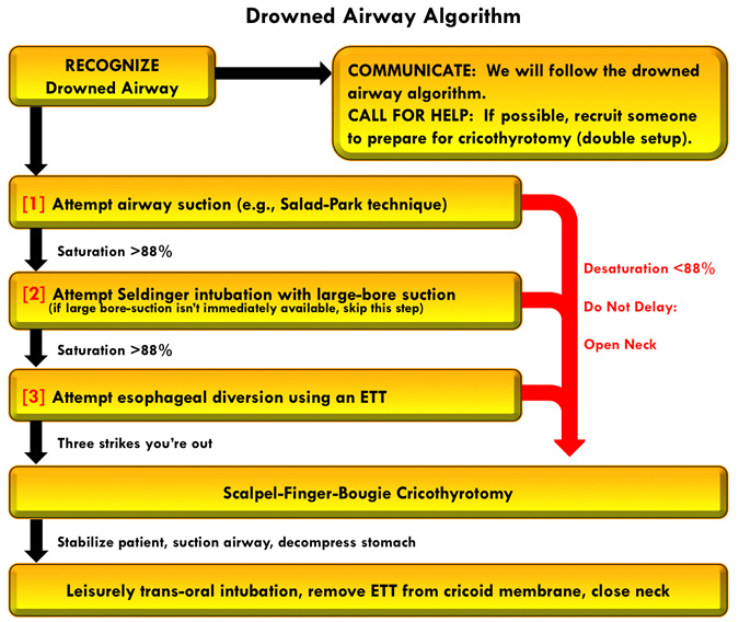 PulmCrit- Drowned Airway Algorithm: Cut to the chase