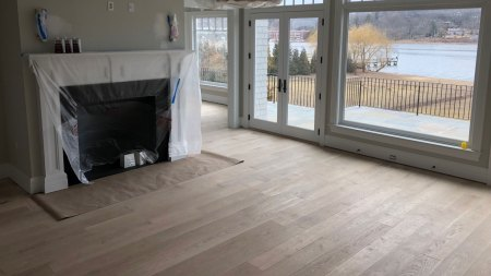 Extraordinary Select White Oak in Manhasset - fireplace