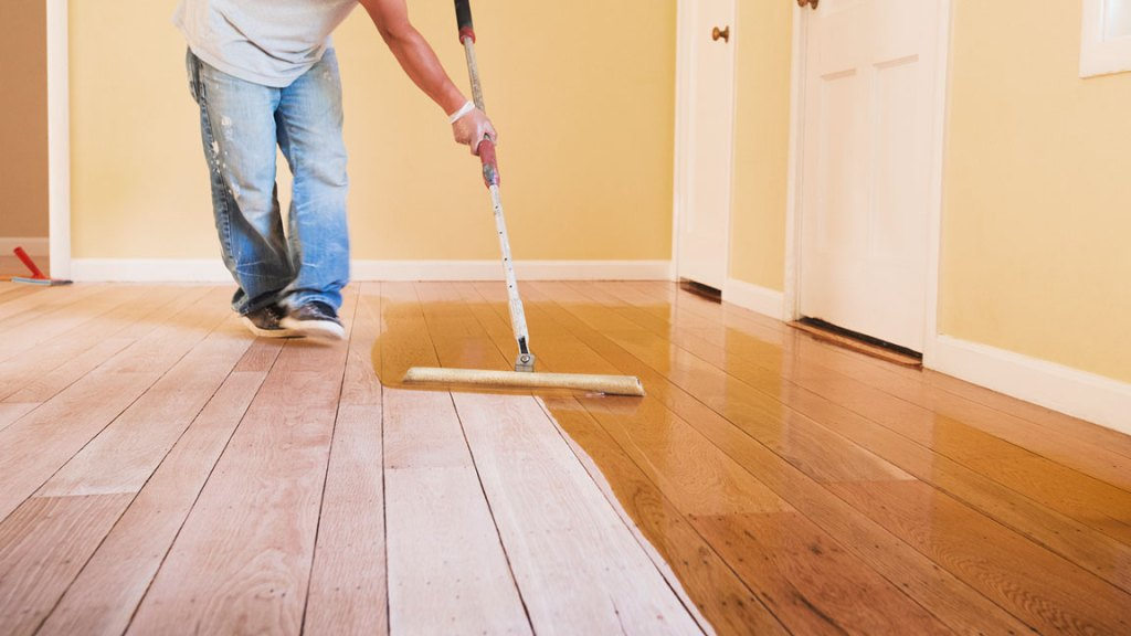 unfinished hardwood flooring installation & staining
