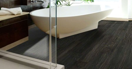 luxury vinyl flooring in bathroom