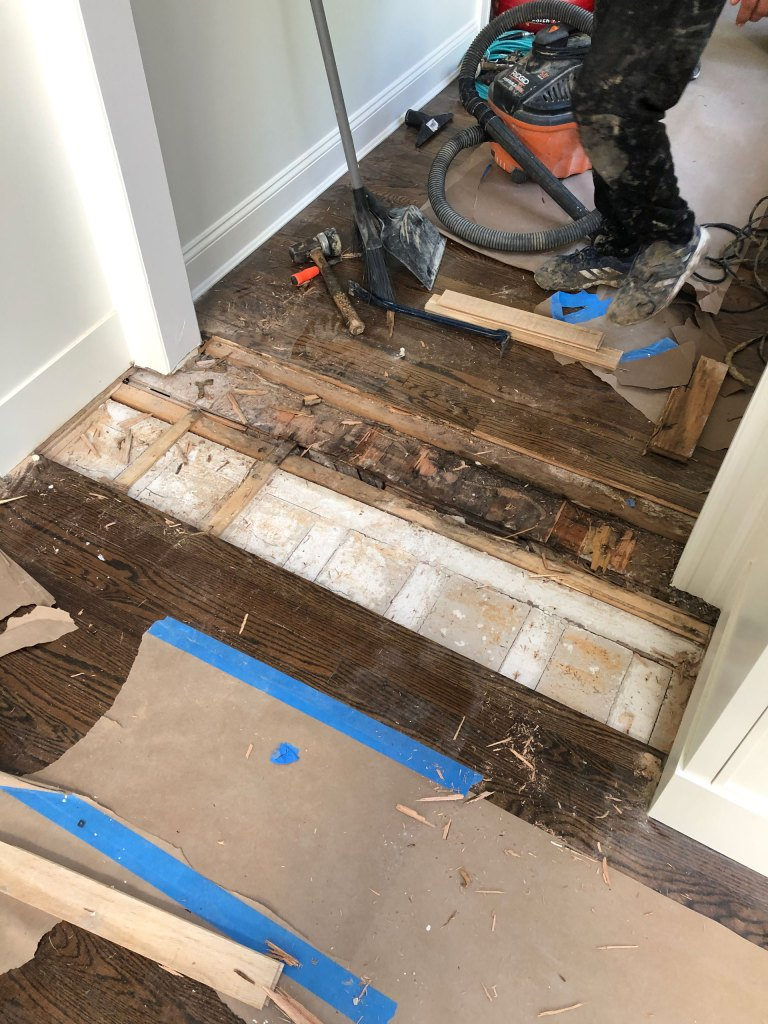Flooring repair in Sands Point before