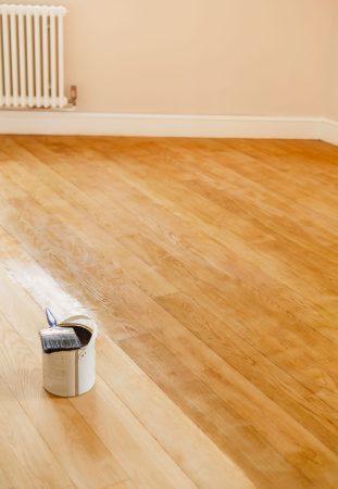 Water-based flooring finish