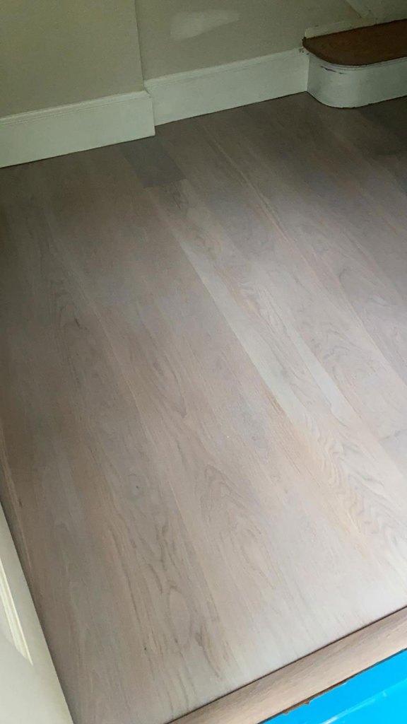 select white oak flooring installation