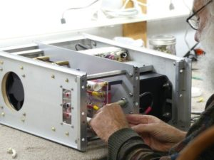 Eric Dollard designing the Pulse Modulator for the MWO
