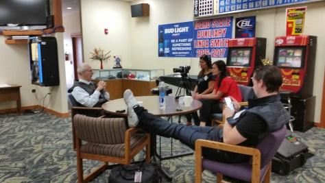 Janja Glogovac interviewing Jim Murray at the 2016 ESTC