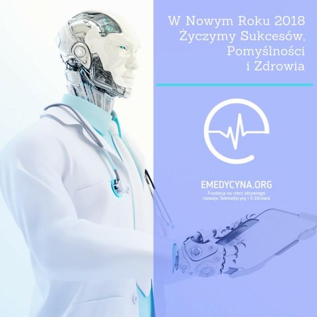 Fundacja e-medycyna - Życzenia Nowy Rok 2018