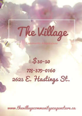 2 of 3 flyer designs for newly opened community acupuncture clinic