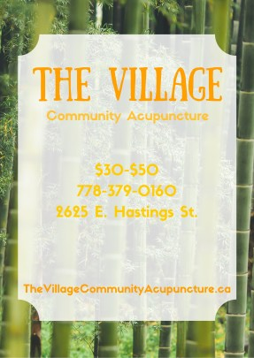 3 of 3 flyer designs for newly opened community acupuncture clinic