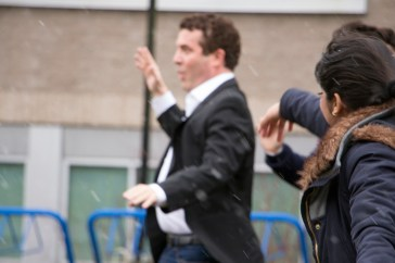 Spread the Net is a joint venture between Rick Mercer of the Rick Mercer Report and Plan Canada. EMELIE PEACOCK PHOTO.