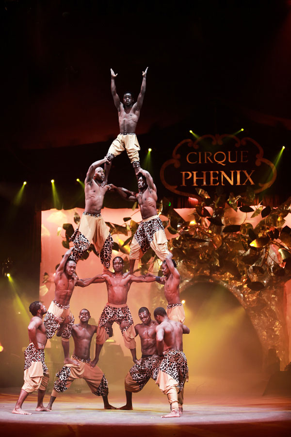 cirkafrika - an African circus touring in France in February 2018