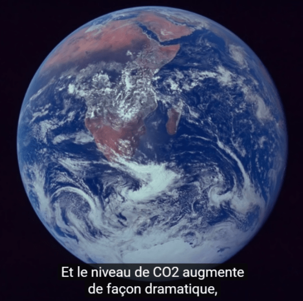 our planet CO2 increases dramatically