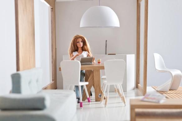 nowoczesny domek dla lalek miniio