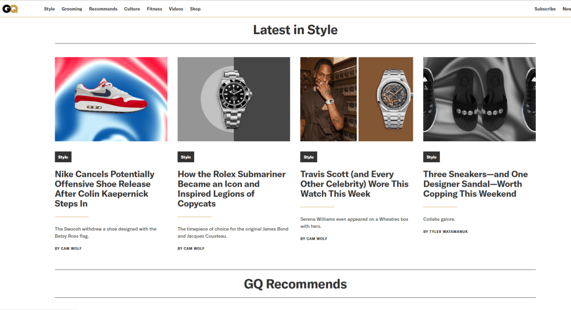 In the News | GQ