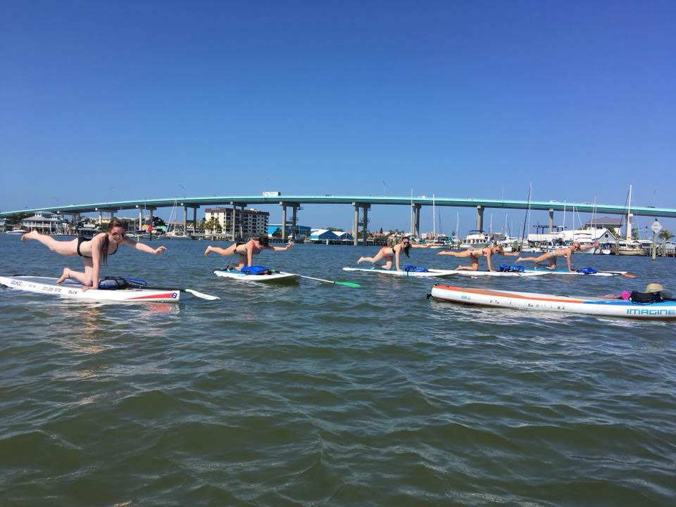 sup yoga class fort myers beach - image