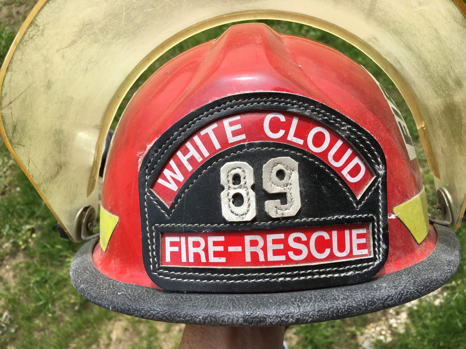 firefighter helmet 1889 WCFD - image