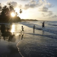 I heart beach (Cahuita, Costa Rica)