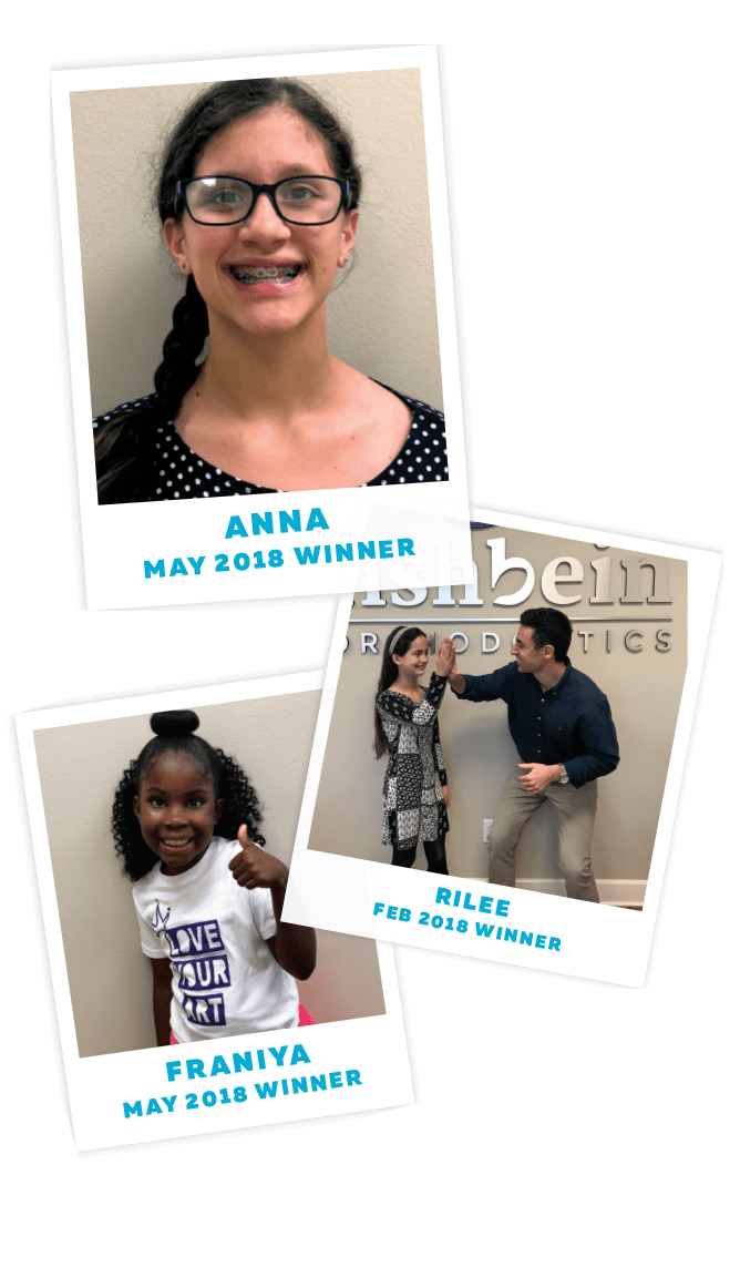 Embraces Winners, 3 young children pictures, Fishbein Orthodontics