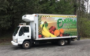 Emerald Fruit and Produce Delivery Truck