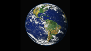 satellite image of the earth with a black background