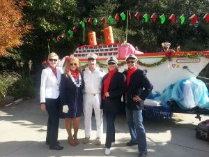 "Last year's float with some of the ""crew""."