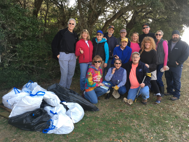 Parrotheads at Hoophole Creek cleanup