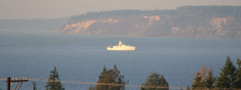 R/V Thompson off coast from Emerald Marine Products