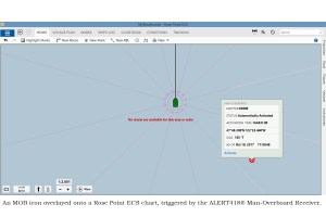 Man-Overboard alert on Rosepoint Softwware.